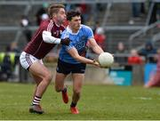 18 March 2018; Colm Basquel of Dublin in action against Gary O'Donnell of Galway during the Allianz Football League Division 1 Round 6 match between Galway and Dublin at Pearse Stadium, in Galway. Photo by Ray Ryan/Sportsfile