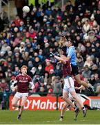 18 March 2018; James McCarthy of Dublin in action against Thomas Flynn of Galway during the Allianz Football League Division 1 Round 6 match between Galway and Dublin at Pearse Stadium, in Galway. Photo by Ray Ryan/Sportsfile