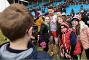 18 March 2018; Matthew Donnelly of Tyrone poses for photographs with supporters following the Allianz Football League Division 1 Round 6 match between Mayo and Tyrone at Elverys MacHale Park in Castlebar, Co. Mayo. Photo by Sam Barnes/Sportsfile