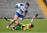 18 March 2018; Darren Hughes of Monaghan in action against Conor Morrison of Donegal during the Allianz Football League Division 1 Round 6 match between Monaghan and Donegal at St. Tiernach's Park in Clones, Monaghan. Photo by Oliver McVeigh/Sportsfile