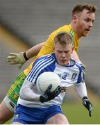18 March 2018; Ryan McAnespie of Monaghan in action against Eamonn Doherty of Donegal during the Allianz Football League Division 1 Round 6 match between Monaghan and Donegal at St. Tiernach's Park in Clones, Monaghan. Photo by Oliver McVeigh/Sportsfile