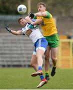 18 March 2018; Darren Hughes of Monaghan in action against Hugh McFadden of Donegal during the Allianz Football League Division 1 Round 6 match between Monaghan and Donegal at St. Tiernach's Park in Clones, Monaghan. Photo by Oliver McVeigh/Sportsfile