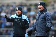 18 March 2018; Dublin manager Jim Gavin, right, and selector Jason Sherlock, during the Allianz Football League Division 1 Round 6 match between Galway and Dublin at Pearse Stadium, in Galway. Photo by Ray Ryan/Sportsfile