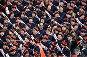 18 March 2018; Members of the Illinois marching band, from Illinois, United States, look on during the Allianz Football League Division 1 Round 6 match between Galway and Dublin at Pearse Stadium, in Galway. Photo by Ray Ryan/Sportsfile