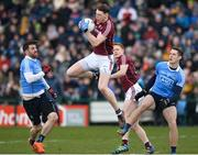 18 March 2018; Thomas Flynn of Galway in action against Michael Darragh Macauley, left, and Brian Fenton of Dublin during the Allianz Football League Division 1 Round 6 match between Galway and Dublin at Pearse Stadium, in Galway. Photo by Ray Ryan/Sportsfile