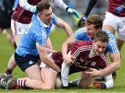 18 March 2018; Gary O'Donnell of Galway in action against Cormac Costello, left, and Ciaran Kilkenny of Dublin during the Allianz Football League Division 1 Round 6 match between Galway and Dublin at Pearse Stadium, in Galway. Photo by Ray Ryan/Sportsfile