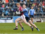 18 March 2018; Sean Andy O'Ceallaigh of Galway in action against Brain Fenton of Dublin during the Allianz Football League Division 1 Round 6 match between Galway and Dublin at Pearse Stadium, in Galway. Photo by Ray Ryan/Sportsfile