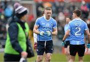 18 March 2018; Eoghan O'Gara of Dublin is sent off by Referee Joe McQuilan during the Allianz Football League Division 1 Round 6 match between Galway and Dublin at Pearse Stadium, in Galway. Photo by Ray Ryan/Sportsfile