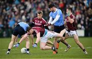 18 March 2018; Thomas Flynn of Galway in action against Ciaran Reddin, left, and Michael Darragh Macauley of Dublin during the Allianz Football League Division 1 Round 6 match between Galway and Dublin at Pearse Stadium, in Galway. Photo by Ray Ryan/Sportsfile
