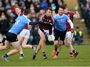 18 March 2018; Paul Conroy of Galway in action against Brian Fenton, left, and Michael Darragh Macauley of Dublin during the Allianz Football League Division 1 Round 6 match between Galway and Dublin at Pearse Stadium, in Galway. Photo by Ray Ryan/Sportsfile