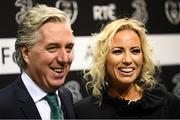 18 March 2018; FAI Chief Executive John Delaney with his partner Emma English during the 3 FAI International Awards at RTE Studios in Donnybrook, Dublin. Photo by Stephen McCarthy/Sportsfile