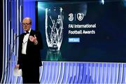 18 March 2018; Minister for Transport, Tourism and Sport, Shane Ross, T.D. during the 3 FAI International Awards at RTE Studios in Donnybrook, Dublin. Photo by Stephen McCarthy/Sportsfile
