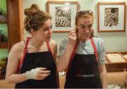 19 March 2018; Dublin's Sinéad Finnegan, left, and Lauren Magee during a Thai cookery class on the TG4 Ladies Football All-Star Tour 2018. Anantara Hotel, Bangkok, Thailand. Photo by Piaras Ó Mídheach/Sportsfile