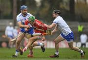 18 March 2018; Alan Cadogan of Cork in action against Michael Walsh and Conor Gleeson of Waterford during the Allianz Hurling League Division 1 Relegation Play-Off match between Waterford and Cork at Páirc Uí Rinn in Cork. Photo by Eóin Noonan/Sportsfile