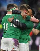 17 March 2018; Garry Ringrose, left, and Bundee Aki of Ireland celebrate after the NatWest Six Nations Rugby Championship match between England and Ireland at Twickenham Stadium in London, England. Photo by Brendan Moran/Sportsfile