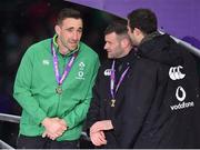 17 March 2018; Ireland players, from left, Jack Conan, Fergus McFadden and Robbie Henshaw after the NatWest Six Nations Rugby Championship match between England and Ireland at Twickenham Stadium in London, England. Photo by Brendan Moran/Sportsfile