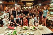 19 March 2018; The TG4 Ladies Football All-Star players assemble for a group photo after a Thai cookery class on the TG4 Ladies Football All-Star Tour 2018 at Anantara Hotel, in Bangkok, Thailand. Photo by Piaras Ó Mídheach/Sportsfile