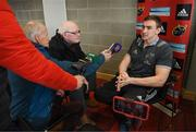 19 March 2018; Tommy O'Donnell speaking to reporters during a Munster Rugby Press Conference at the University of Limerick in Limerick.  Photo by Diarmuid Greene/Sportsfile