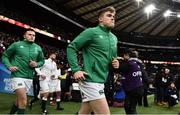 17 March 2018; Jacob Stockdale, left, and Garry Ringrose of Ireland run out prior to the NatWest Six Nations Rugby Championship match between England and Ireland at Twickenham Stadium in London, England. Photo by Brendan Moran/Sportsfile