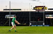 19 March 2018; Colin Ryan of Limerick scores the winning point during sudden death in the free-taking competition during the Allianz Hurling League Division 1 quarter-final match between Limerick and Clare at the Gaelic Grounds in Limerick.  Photo by Diarmuid Greene/Sportsfile