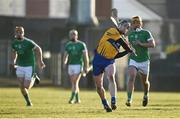 19 March 2018; Tony Kelly of Clare during the Allianz Hurling League Division 1 quarter-final match between Limerick and Clare at the Gaelic Grounds in Limerick.  Photo by Diarmuid Greene/Sportsfile