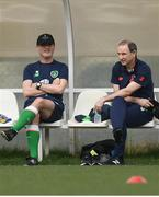 20 March 2018; Assistant manager Roy Keane, left, and manager Martin O'Neill during Republic of Ireland squad training at Regnum Sports Centre in Belek, Turkey. Photo by Stephen McCarthy/Sportsfile