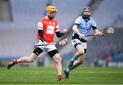 17 March 2018: Paul Schutte of Cuala in action against Cathal King of Na Piarsaigh during the AIB GAA Hurling All-Ireland Senior Club Championship Final match between Cuala and Na Piarsaigh at Croke Park in Dublin. Photo by Stephen McCarthy/Sportsfile