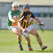 19 March 2018; Ger Aylward of Kilkenny in action against David O'Toole of Offaly during the Allianz Hurling League Division 1 quarter-final match between Offaly and Kilkenny at Bord Na Mona O'Connor Park in Tullamore, Offaly. Photo by Matt Browne/Sportsfile