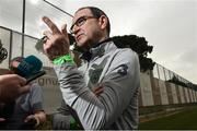 20 March 2018; Manager Martin O'Neill speaks to the media following Republic of Ireland squad training at Regnum Sports Centre in Belek, Turkey. Photo by Stephen McCarthy/Sportsfile