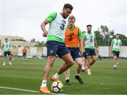 20 March 2018; Cyrus Christie, left, and Daryl Horgan during Republic of Ireland squad training at Regnum Sports Centre in Belek, Turkey. Photo by Stephen McCarthy/Sportsfile