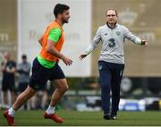 20 March 2018; Manager Martin O'Neill and Shane Long during Republic of Ireland squad training at Regnum Sports Centre in Belek, Turkey. Photo by Stephen McCarthy/Sportsfile