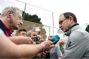 20 March 2018; Manager Martin O'Neill speaks with RTÉ's Tony O'Donoghue following Republic of Ireland squad training at Regnum Sports Centre in Belek, Turkey. Photo by Stephen McCarthy/Sportsfile