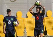 21 March 2018; Derrick Williams and assistant manager Roy Keane during Republic of Ireland squad training at Regnum Sports Centre in Belek, Turkey. Photo by Stephen McCarthy/Sportsfile
