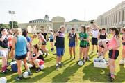 16 March 2018; Cork manager Ephie Fitzgerald during a training session on the TG4 Ladies Football All-Star Tour 2018. Berkeley International School. Bangkok, Thailand. Photo by Piaras Ó Mídheach/Sportsfile