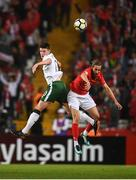 23 March 2018; Declan Rice of Republic of Ireland in action against Yusuf Yazici of Turkey during the International Friendly match between Turkey and Republic of Ireland at Antalya Stadium in Antalya, Turkey. Photo by Stephen McCarthy/Sportsfile