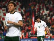 23 March 2018; Declan Rice and his Republic of Ireland team-mate Jeff Hendrick, left, following the International Friendly match between Turkey and Republic of Ireland at Antalya Stadium in Antalya, Turkey. Photo by Stephen McCarthy/Sportsfile