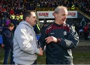 24 March 2018; Wexford manager Davy Fitzgerald and Galway manager Mícheál Donoghue shake hands following the Allianz Hurling League Division 1 quarter-final match between Wexford and Galway at Innovate Wexford Park in Wexford. Photo by Sam Barnes/Sportsfile
