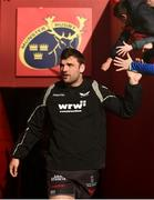 24 March 2018; Tadhg Beirne of Scarlets makes his way to the pitch prior to the Guinness PRO14 Round 18 match between Munster and Scarlets at Thomond Park in Limerick.  Photo by Seb Daly/Sportsfile