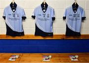 24 March 2018; The jerseys of David Dempsey, David Breen and Ronan Lynch of Na Piarsaigh in the dressing room before the AIB GAA Hurling All-Ireland Senior Club Championship Final replay match between Cuala and Na Piarsaigh at O'Moore Park in Portlaoise, Laois. Photo by Piaras Ó Mídheach/Sportsfile