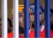 24 March 2018; Cuala captain Paul Schutte looks on as he and his team-mates wait for gate to the pitch to be opened before the AIB GAA Hurling All-Ireland Senior Club Championship Final replay match between Cuala and Na Piarsaigh at O'Moore Park in Portlaoise, Laois. Photo by Piaras Ó Mídheach/Sportsfile