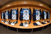 24 March 2018; Leinster jerseys hang in the dressing room ahead of the Guinness PRO14 Round 18 match between Ospreys and Leinster at the Liberty Stadium in Swansea, Wales. Photo by Ramsey Cardy/Sportsfile