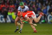 24 March 2018; David Treacy of Cuala in action against Ronan Lynch of Na Piarsaigh during the AIB GAA Hurling All-Ireland Senior Club Championship Final replay match between Cuala and Na Piarsaigh at O'Moore Park in Portlaoise, Laois. Photo by Piaras Ó Mídheach/Sportsfile