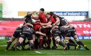 24 March 2018; Robin Copeland of Munster and Tadhg Beirne of Scarlets compete in a maul during the Guinness PRO14 Round 18 match between Munster and Scarlets at Thomond Park in Limerick. Photo by Diarmuid Greene/Sportsfile