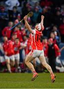 24 March 2018; Con O'Callaghan of Cuala celebrates after the AIB GAA Hurling All-Ireland Senior Club Championship Final replay match between Cuala and Na Piarsaigh at O'Moore Park in Portlaoise, Laois. Photo by Piaras Ó Mídheach/Sportsfile