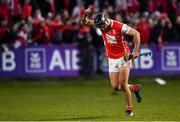 24 March 2018; Mark Schutte of Cuala celebrates scoring a late point during the AIB GAA Hurling All-Ireland Senior Club Championship Final replay match between Cuala and Na Piarsaigh at O'Moore Park in Portlaoise, Laois. Photo by Piaras Ó Mídheach/Sportsfile