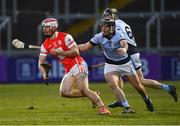 24 March 2018; Con O'Callaghan of Cuala in action against Alan Dempsey, centre, and Cathal King of Na Piarsaigh during the AIB GAA Hurling All-Ireland Senior Club Championship Final replay match between Cuala and Na Piarsaigh at O'Moore Park in Portlaoise, Laois. Photo by Piaras Ó Mídheach/Sportsfile