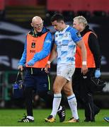 24 March 2018; Noel Reid of Leinster leaves the pitch following an injury during the Guinness PRO14 Round 18 match between Ospreys and Leinster at the Liberty Stadium in Swansea, Wales. Photo by Ramsey Cardy/Sportsfile