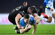 24 March 2018; Rory O'Loughlin of Leinster is tackled by Rob McCusker of Ospreys during the Guinness PRO14 Round 18 match between Ospreys and Leinster at the Liberty Stadium in Swansea, Wales. Photo by Ramsey Cardy/Sportsfile