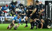 24 March 2018; Rory O'Loughlin of Leinster scores his side's second try during the Guinness PRO14 Round 18 match between Ospreys and Leinster at the Liberty Stadium in Swansea, Wales. Photo by Ramsey Cardy/Sportsfile