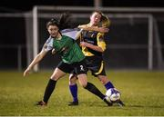 24 March 2018; Lauryn O'Callaghan of Peamount United in action against Michaela Walsh of Kilkenny United during the Continental Tyres Women's National League match between Peamount United and Kilkenny United at Greenogue in Newcastle, Dublin.   Photo by Barry Cregg/Sportsfile